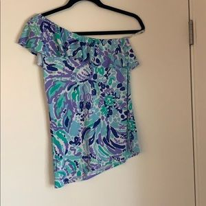 Lily Pulitzer one sleeve top